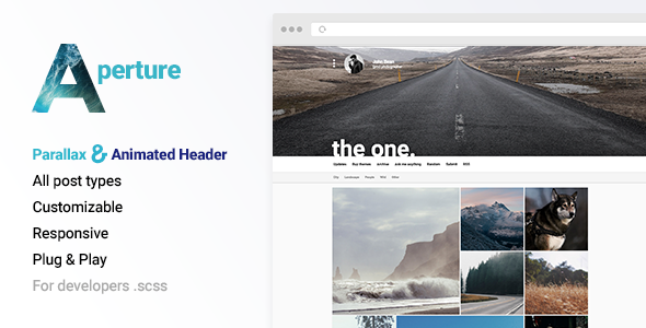 ThemeForest Aperture Creative Portfolio with Parallax Cover 10932604
