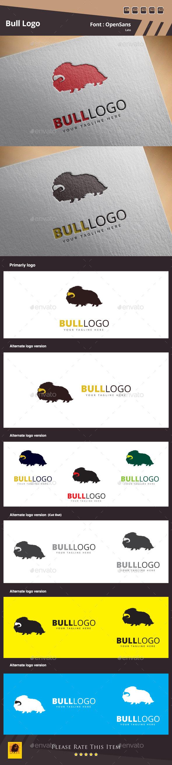 GraphicRiver Bull Logo Template 10932606