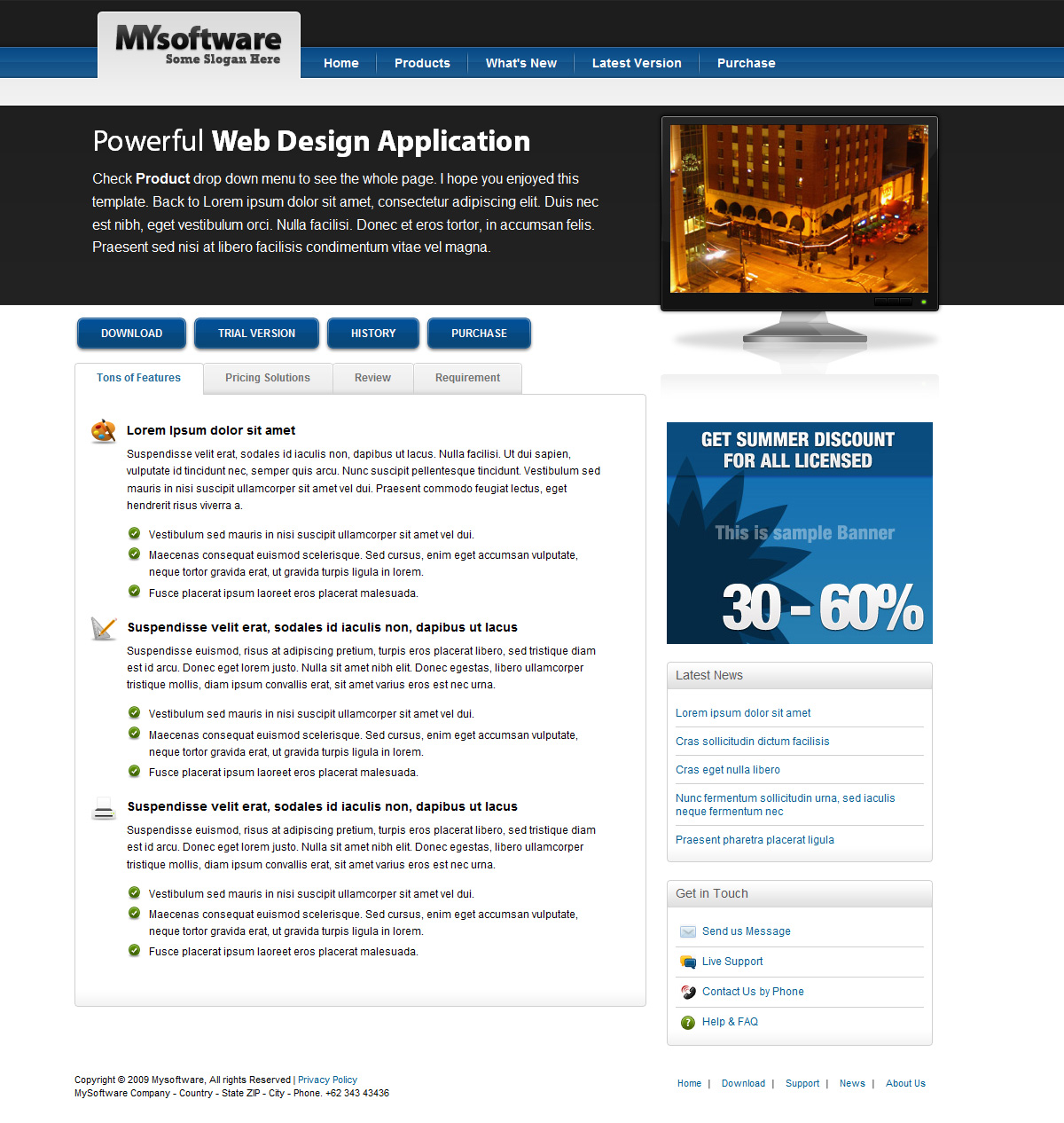 Clean Blue & Black Mac Style Software Template - Clean Blue & Black Mac Style Software Template - About Us Page