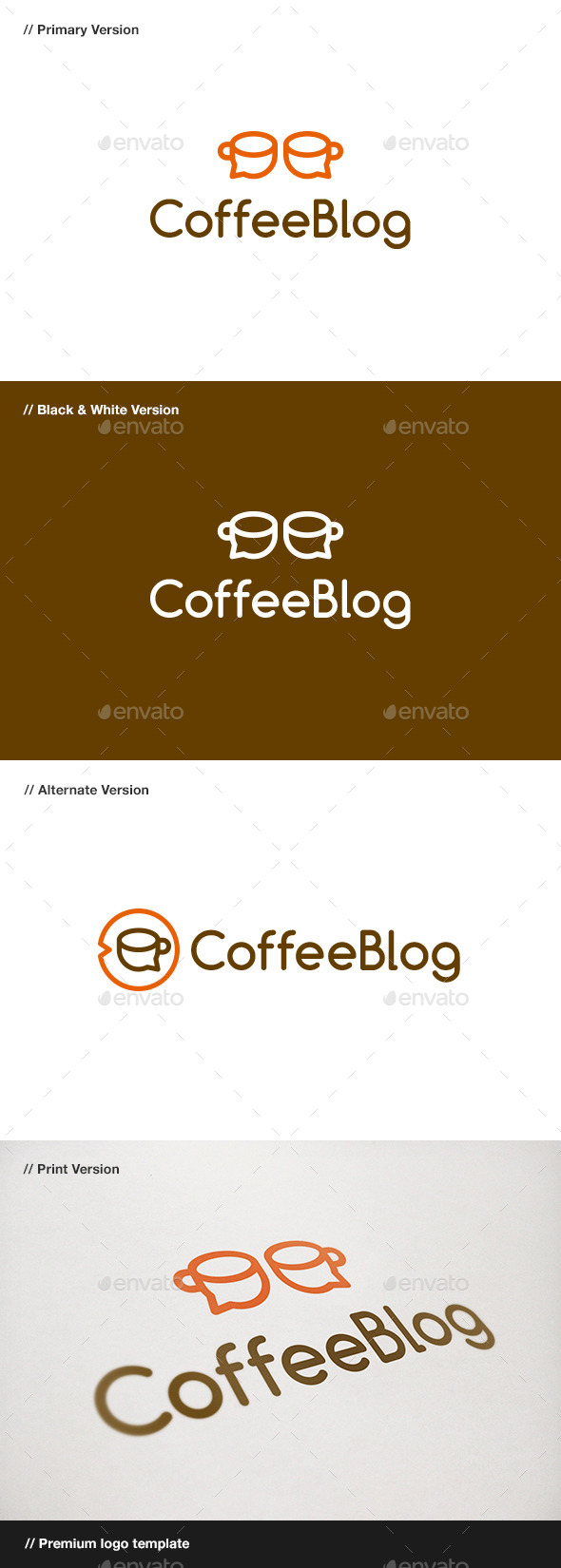 GraphicRiver Coffee Blog Logo 10932989