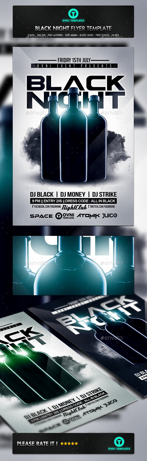 GraphicRiver Black Night Flyer Template 10933329