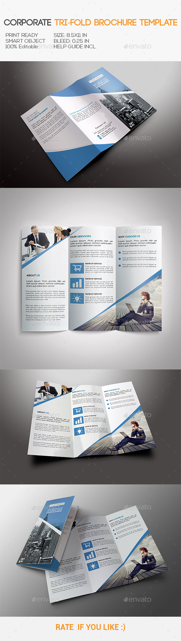 GraphicRiver Corporate Tri-Fold Brochure 10933644