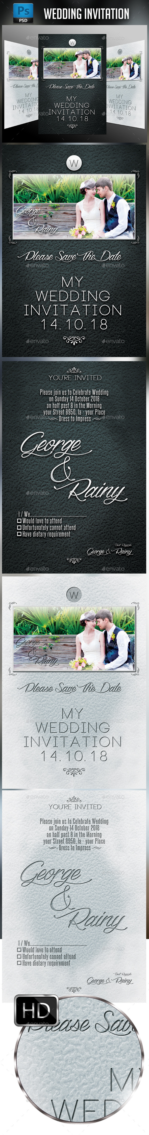GraphicRiver Wedding Invitation 10933647