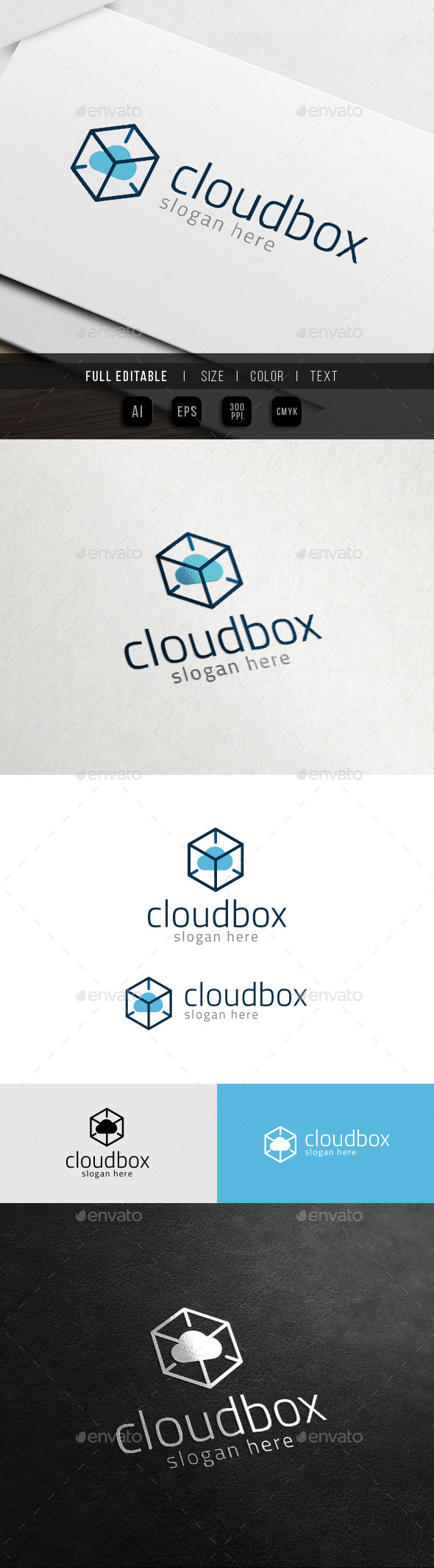 GraphicRiver Cloud Box Hosting Data Storage 10933803