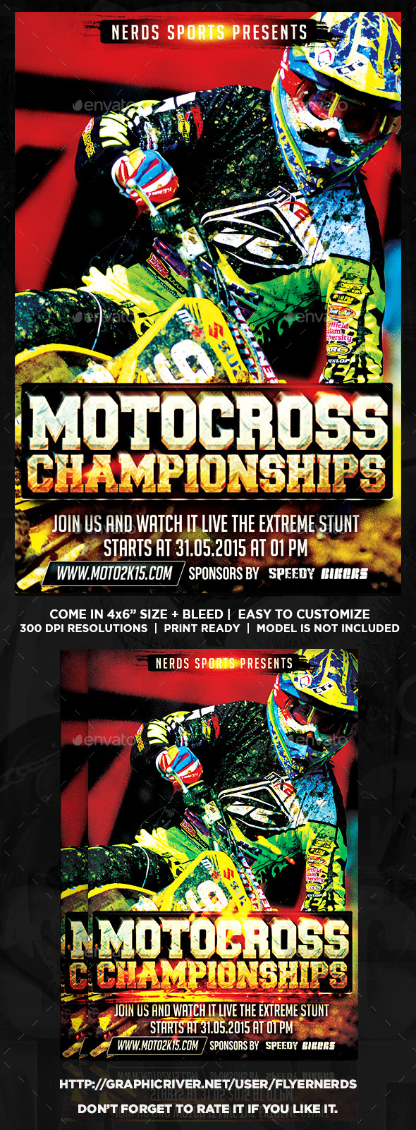 GraphicRiver Motocross 2K15 Championships Sports Flyer 10933878