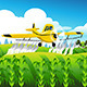 Duster Flying over Field  - GraphicRiver Item for Sale