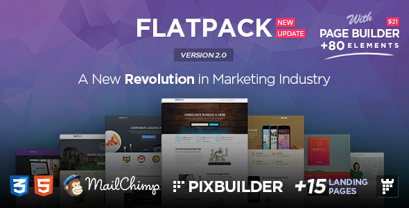 DOWNLOAD - FLATPACK – Landing Pages Pack With Page Builder