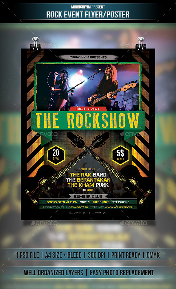 GraphicRiver Rock Event Flyer Poster 10934296