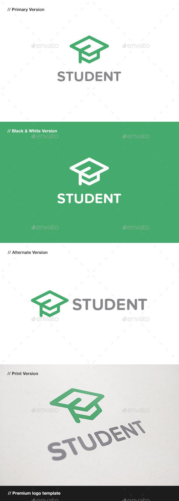 GraphicRiver Student Logo 10934330
