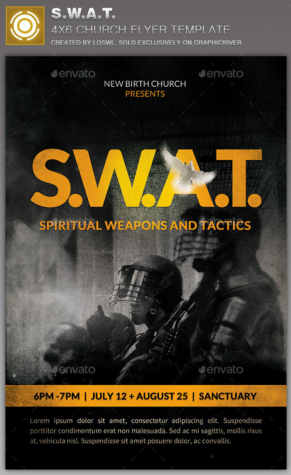 GraphicRiver S.W.A.T Church Flyer Template 10934459