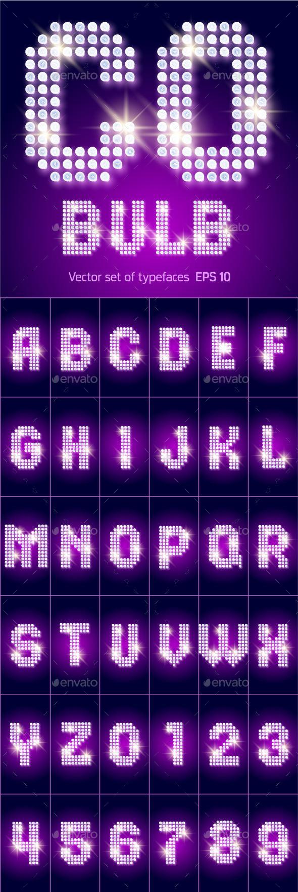 GraphicRiver Disco Lamp Alphabet 10934463
