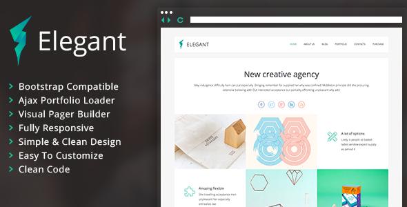 ThemeForest Elegant Clean Portfolio WordPress Theme 10445416
