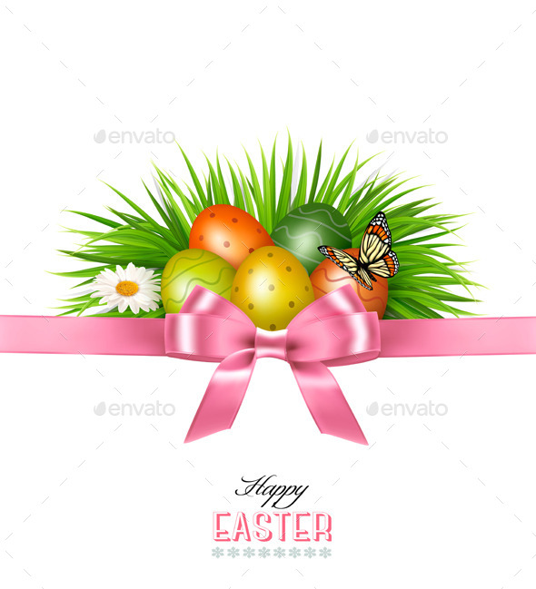 GraphicRiver Happy Easter Background Colorful Easter Eggs 10934484