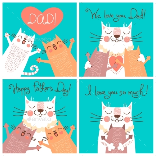 GraphicRiver Fathers Day Cards 10934502