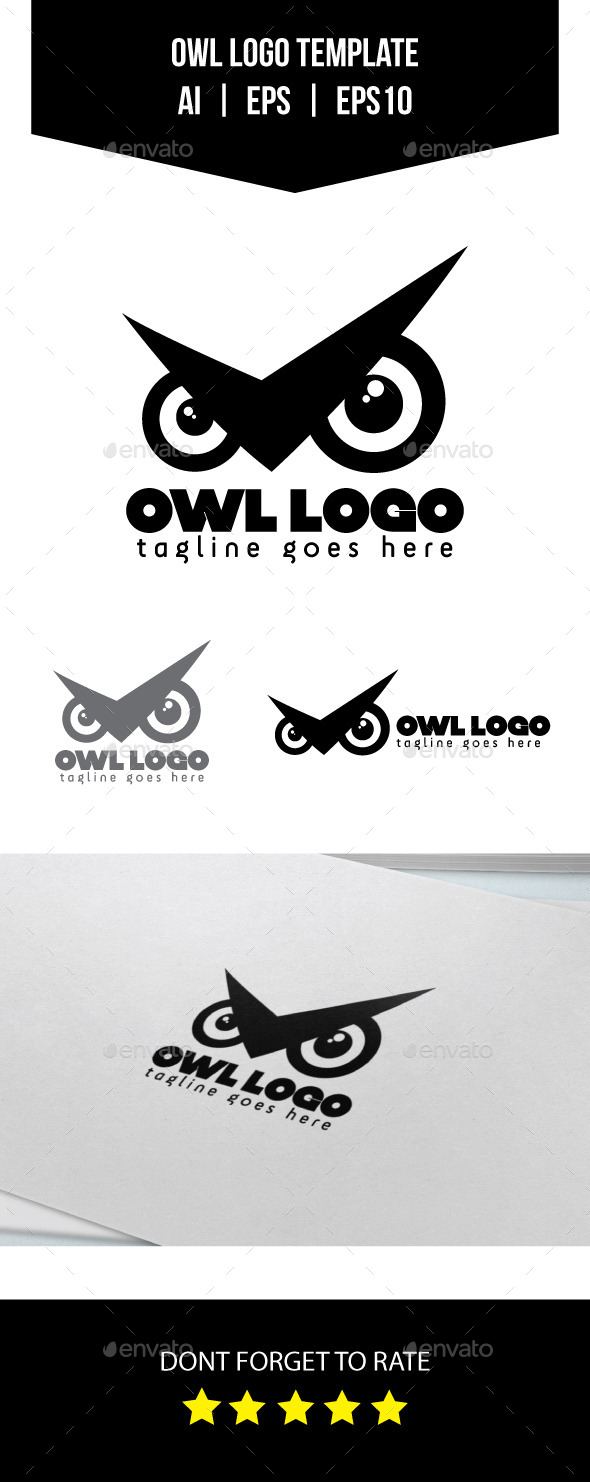 GraphicRiver Owl Logo Template 10934510