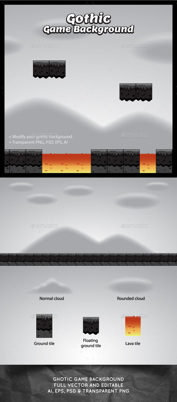 GraphicRiver Gothic Game Background 10934515