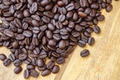 Hot coffee on the wood and roast coffee bean. - PhotoDune Item for Sale