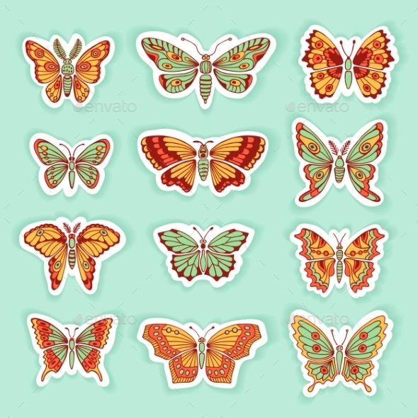 GraphicRiver Set of Decorative Butterflies 10934522