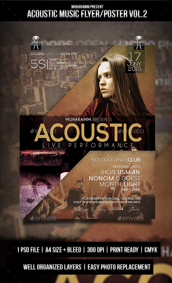 GraphicRiver Acoustic Music Flyer Poster Vol2 10861300