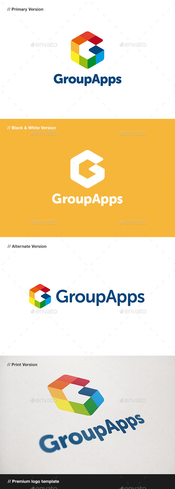GraphicRiver Group Apps Letter G Logo 10934835