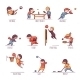 Set of Sportsmen - GraphicRiver Item for Sale