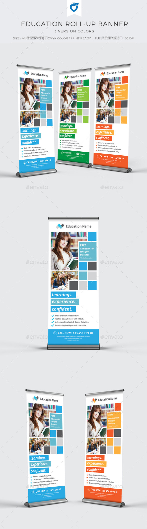 GraphicRiver Education Roll-up Banner 10935210