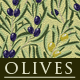 Olives Wallpaper Pattern - GraphicRiver Item for Sale