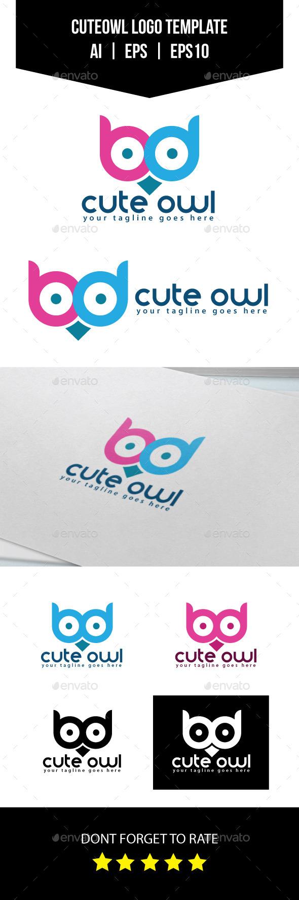 GraphicRiver Cute Owl Logo Template 10935322