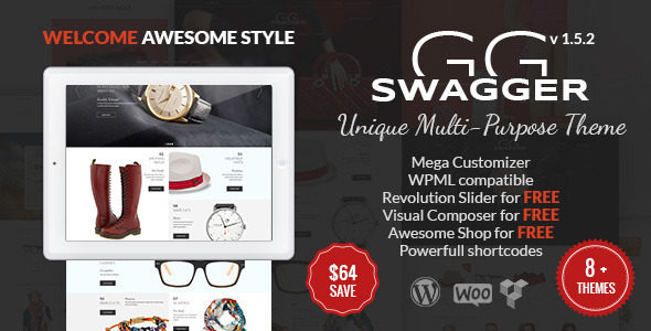 SWAGGER - Unique Multi Purpose WordPress Theme