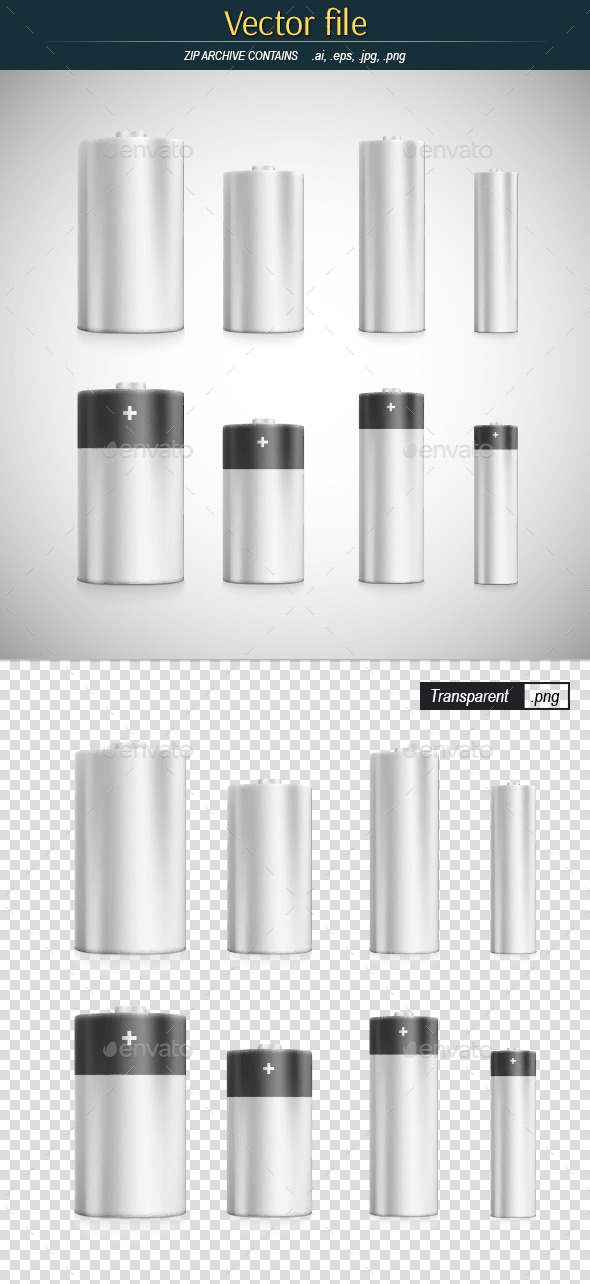 GraphicRiver Batteries Main Standard Sizes 10935373