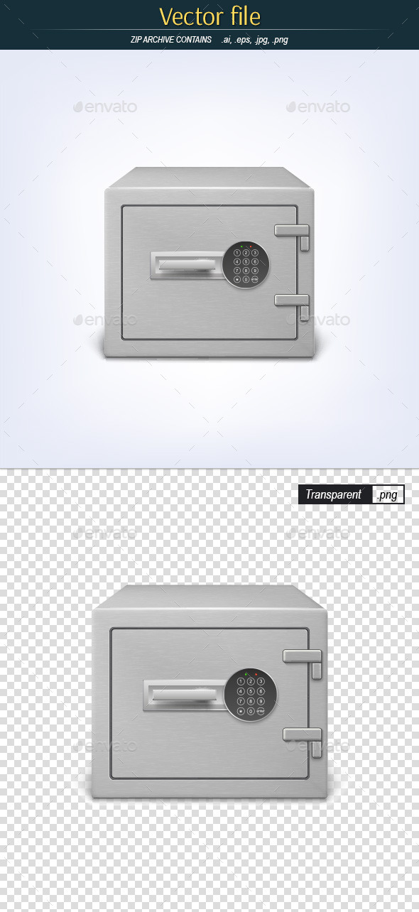 GraphicRiver Metal Safe with Combination Lock 10935432