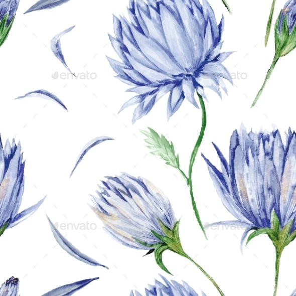 GraphicRiver Indigo Floral Pattern 10935572
