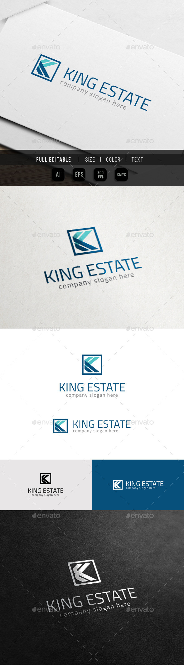 GraphicRiver Letter K King Group K Logo 10935583