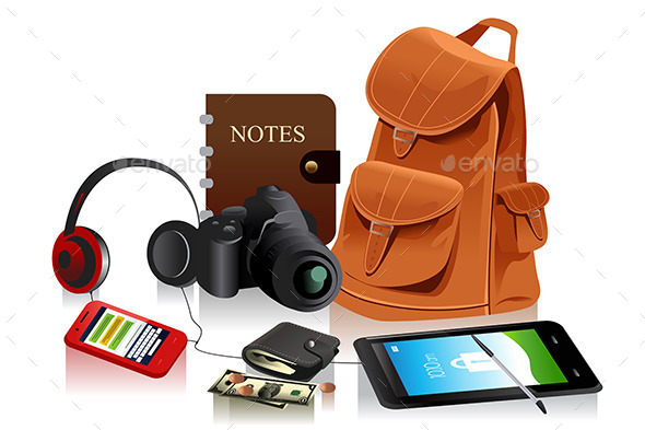 GraphicRiver Bag and Accessories 10935609