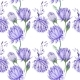 Creative Watercolor Purple Floral Pattern - GraphicRiver Item for Sale