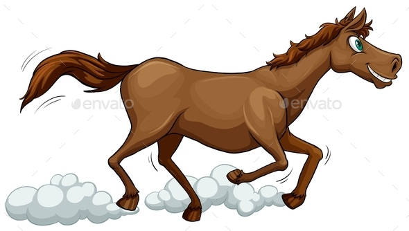 GraphicRiver A Running Horse 10935635