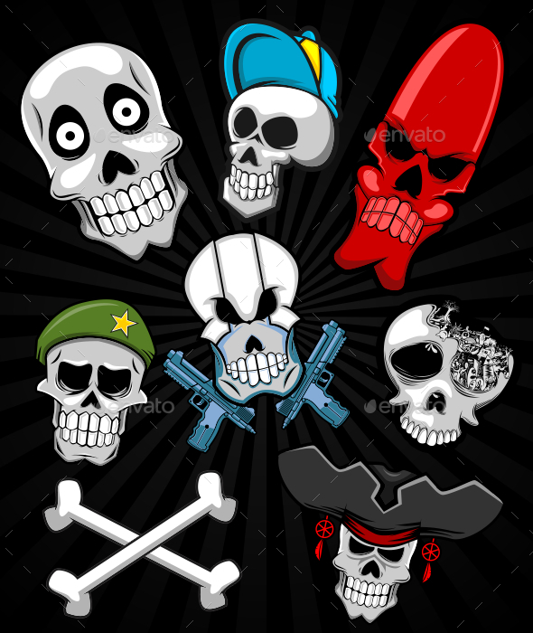 GraphicRiver Skull Set 10935647