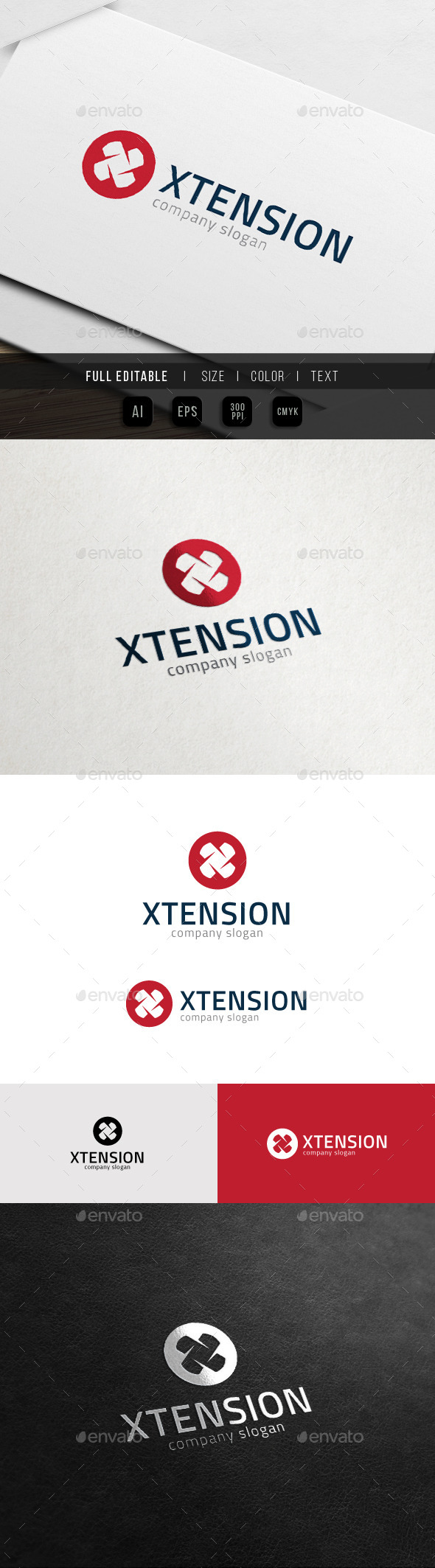 GraphicRiver Extreme Game Extension Letter X Logo 10935658