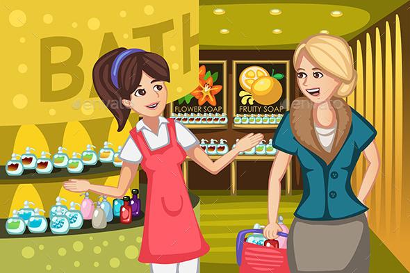 GraphicRiver Women in a Soap Store 10935660