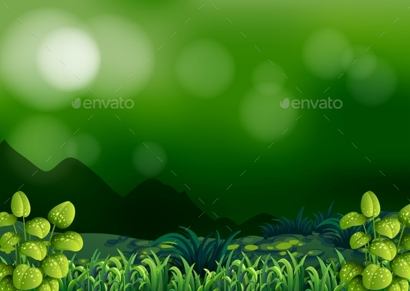 GraphicRiver Forest Background 10935678