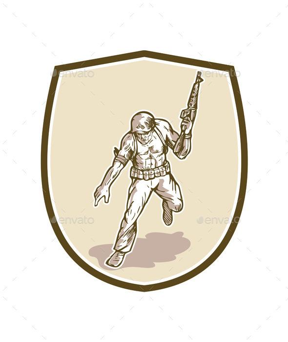 GraphicRiver American Soldier Serviceman 10935684