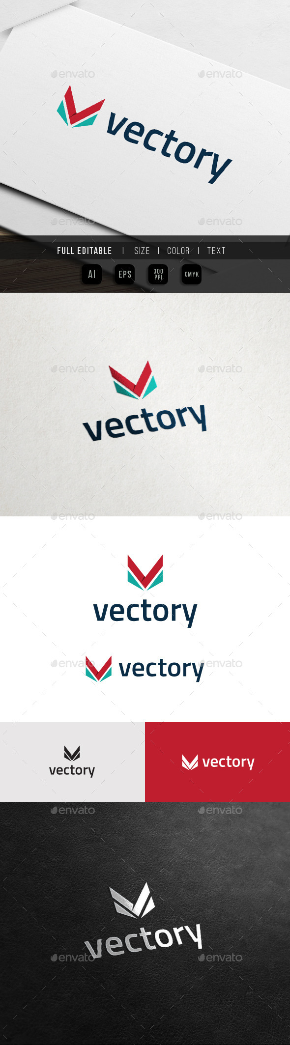 GraphicRiver Vector Victory Vision Army Letter V Logo 10935688