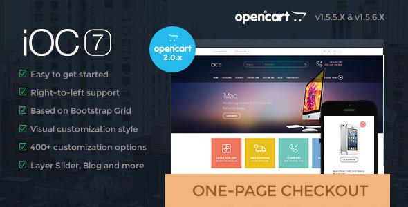 iOC7 – A responsive theme with modern flat design