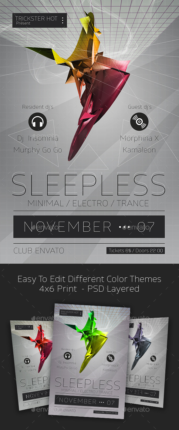 GraphicRiver Sleepless Disco Flyer 10935719