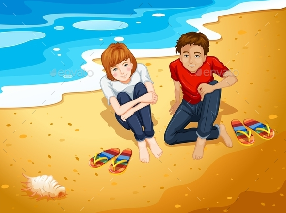 GraphicRiver Couple on the Beach 10935790