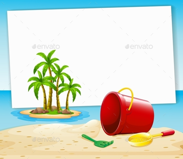 GraphicRiver Beach and Sign 10935957
