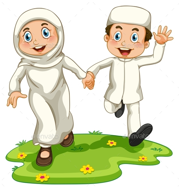 GraphicRiver Muslim Boy and Girl 10935965