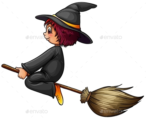 GraphicRiver Witch and Broom 10935991
