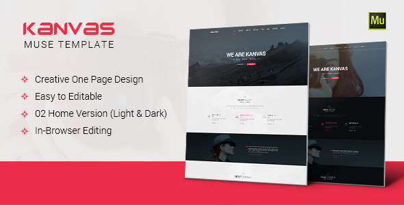 ThemeForest Kanvas Multipurpose Parallax Muse Template 10936020