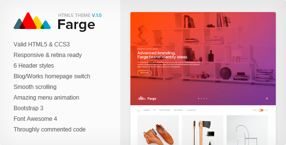 ThemeForest Farge Creative HTML5 Agency Template 10889846